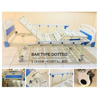 BAR TYPE DOTTED HOSPITAL BED 2 CRANK (BRAND NEW)
