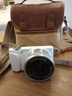 Sony Nex-3N free original leather carrying case