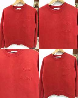 Red-Orange Acne Studios inspired Sweatshirt/Pullover/Top