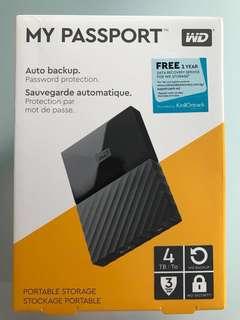 WD My Passport Portable Storage Hard Drive 4TB (Black)