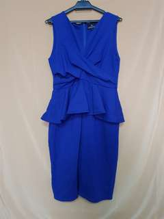 Doublewoot Royal Blue Peplum Dress