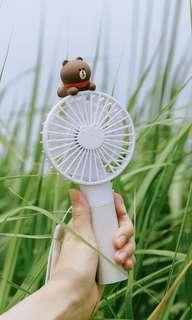 Line friends brown portable fan