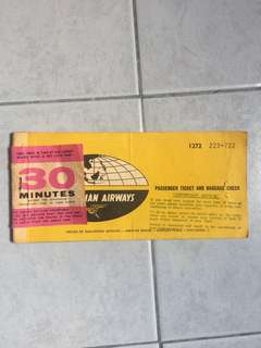 [TSHSE] Vintage Malaysia Airways Passenger Ticket and Baggage Check