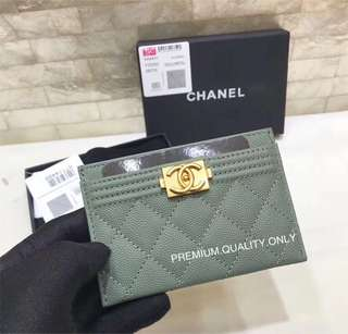 Boutique Quality Chanel Boy Card Holder