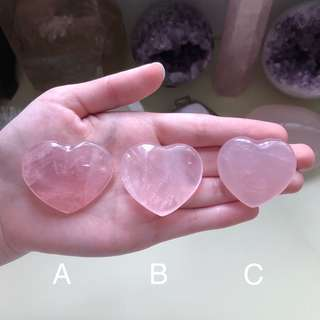 Rose Quartz Crystal Cute Hearts Specimen (Left #B!)