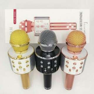 WS-858 Portable Bluetooth Karaoke Microphone with Speaker