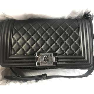 Boy Chanel 25cm (medium size) Black A67086 全新 可議價