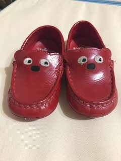 🚚 WHY and 1/2普普熊嬰幼兒學步鞋紅色豆豆鞋