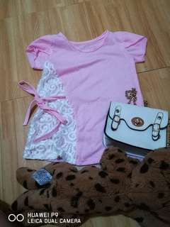 Pink lacey top for 4-6 y.o.