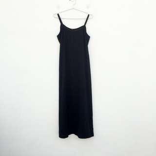 🚚 二手 黑色 半透明 低胸 綁帶 洋裝 明太子 611