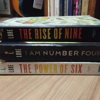 The Rise of Nine, The Power of Six, I am Number Four by Pittacus Lore SET
