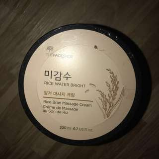 THE FACE SHOP RICE WATER BRIGHT MASSAGE CREAM 200ML