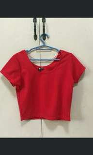Swap red crop top
