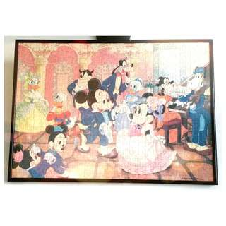 Mickey Mouse Jigsaw Puzzle (with Frame)