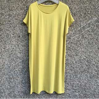 Stretchable Yellow Dress