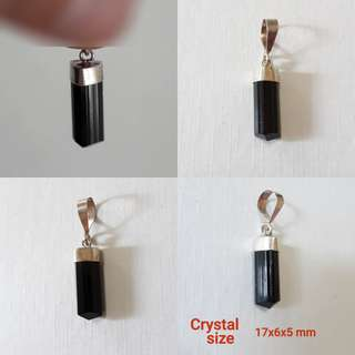 Very nice Black Tourmaline pendant with 100% 925 Silver setting.