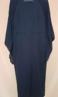 Doublewoot Black Dress with Sheer Sleeve
