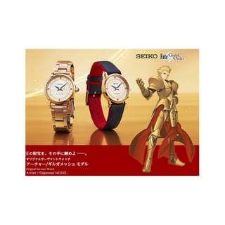 Fate/Grand Order 吉爾伽美 SEIKO 精工 女錶 手錶 FGO  命運停駐之夜 FATE 含國際運費