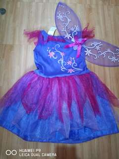 Fairy costume with wings -- 4-6 y.o.