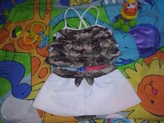 Set abri baju renang anak import