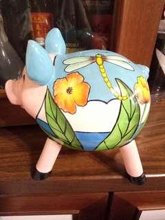 🚚 彩繪陶瓷豬公撲滿