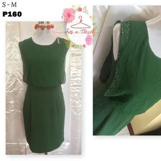 Forest Green Dress (Ukay Item)