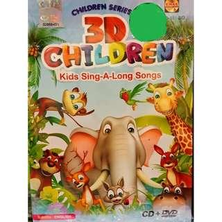 3D Children Kids Sing-A-Long Songs CD+DVD