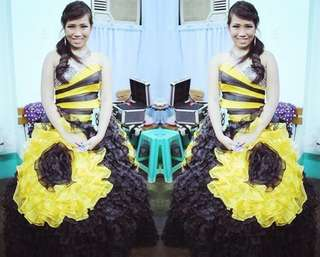 Sunflower inspired gown for RENT