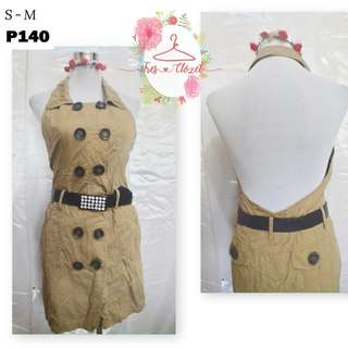 Brown Halter Dress (Ukay Item)