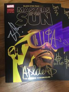(SIGNED W POSTER) MARVEL BLACK EYED PEAS Present MASTERS OF THE SUN
