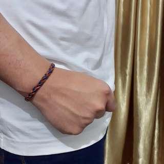 Braid Bracelet [Gelang Kepang] || gelang murah gelang cowok gelang kulit gelang cokelat gelang biru