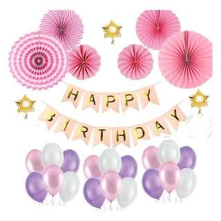 Birthday Decor (Pink Bundle) Set 1