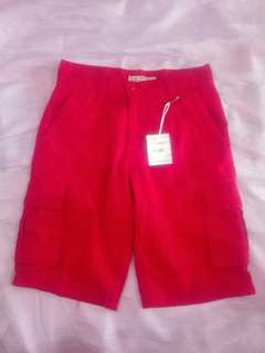 Red shorts for kids / teens