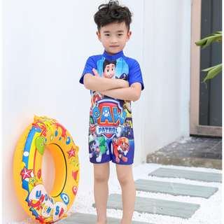 Cartoon  swimsuit one-piece swimwear cute boy baby sun protection