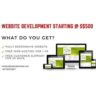 Website Development Starting @ $500
