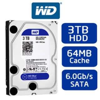 Western Digital Blue 3TB Desktop Hard Disk Drive - 5400 RPM SATA 6Gb/s 64MB Cache 3.5 Inch - WD30EZRZ