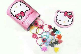 Hello kitty ponytail with clip