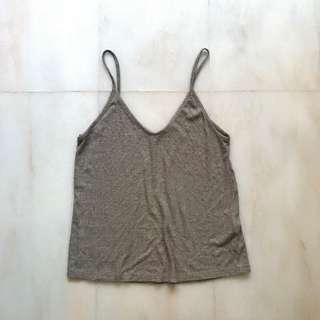 BN F21 KNITTED BEIGE CAMI TOP