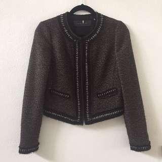 Elie Tahari Woven Tweed Jacket
