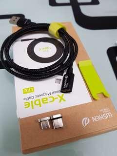 WSKEN Type-c micro usb 磁力充電線 android s9 s8