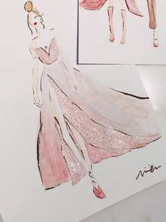 Hand drawn: clothes/gown illustrations