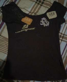 Fitted lee pipes shirt for women (brown)