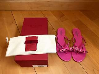Valentino Slippers 拖鞋(桃粉紫色)