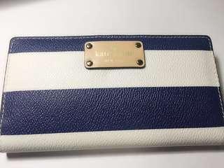 Kate Spade 藍白條紋長銀包 Stripes Long Wallet