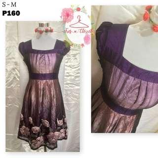 Violet Dress (Ukay Item)