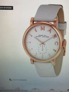 Marc Jacobs White Genuine Leather Baker Watch 白色 女裝手錶