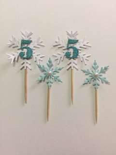 Disney Frozen theme cupcake toppers