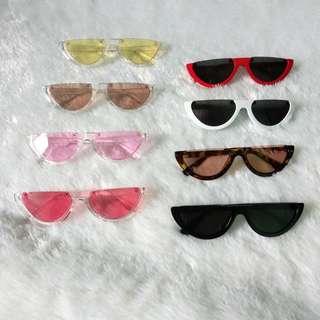 Watermelon sunglasses half frame
