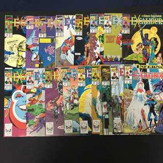 Excalibur 7 to 23 Marvel Comics Book Xmen Movie
