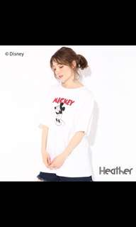 Heather x Disney 聯名 T-shirt